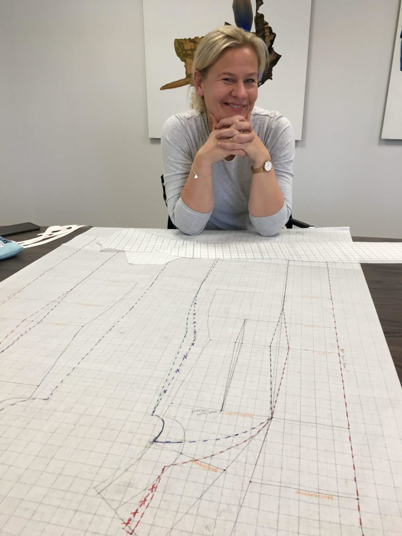 Kathrine Nørgård Ytterjakke 27 scaled - Lær å lage ytterjakke / kåpemønster med krage