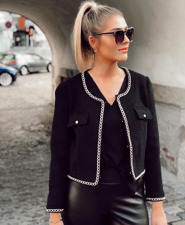 Sophia jakke sort - Sophia jakke
